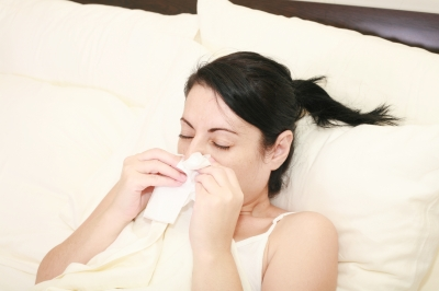 Sneezing - a symptom of influenza
